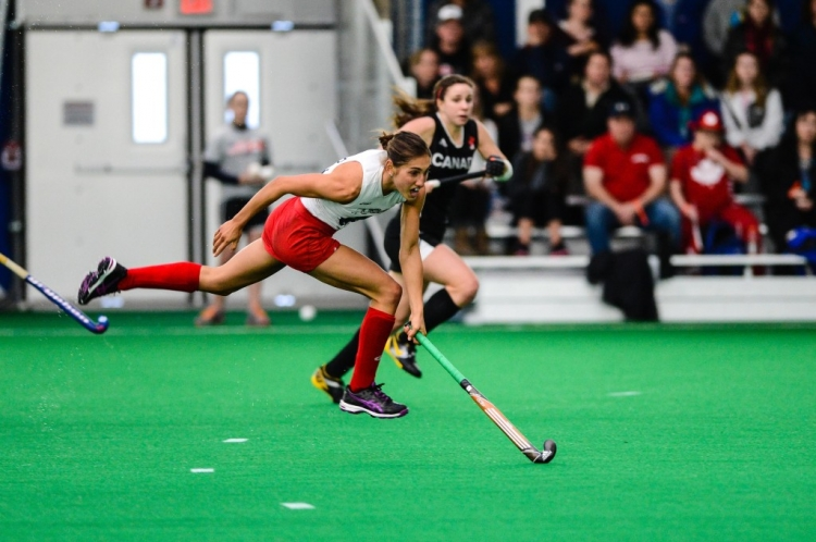 Match 3 USA vs Canada Field Hockey Series at Spooky Nook in Lancaster, PA